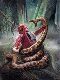Snakefight Art Print