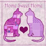 Home Sweet Home Cats III Art Print