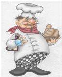 Busy Chef Art Print