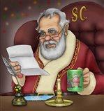 Santa's Letters Art Print