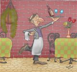 Wine Waiter Art Print