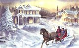 Horse and Sleigh Art Print