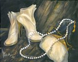 Shoes and Necklace Art Print
