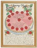 A Strawberry Chiffon Pie Art Print