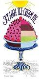 Sky High Ice Cream Pie Art Print