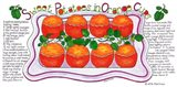 Sweet Potatoes in Orange Cups Art Print