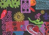 Fiesta (black) Art Print