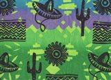 Fiesta (green) Art Print