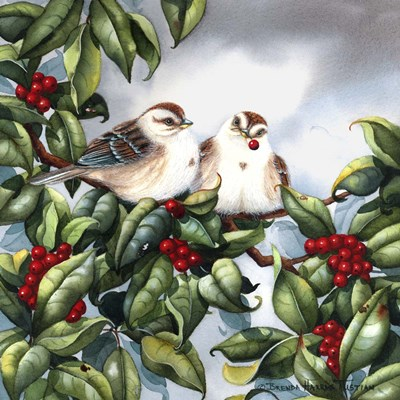 Tree Sparrow Art Print by Tustian