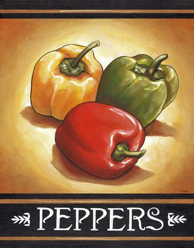 Market Sign Peppers