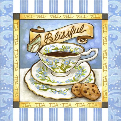 Tea Blissful Blue Teacup