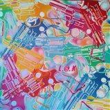 Abstract Pop Guns Art Print