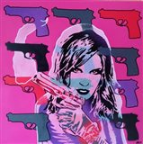 Revolver Pinks Art Print