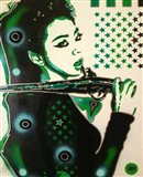 Asia Green Art Print