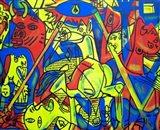 Guernica Graffiti Art Print