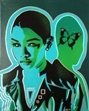 Android V Butterfly Art Print