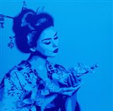 Blue Geisha Art Print