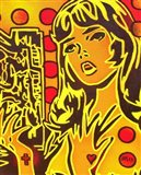 Comic Girl Art Print