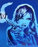Girls Guns And Butterflies Art Print