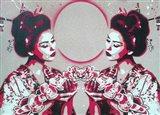 Mirror Geisha Art Print