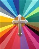 Rainbow Cross Art Print