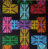 Union Jack Cross Art Print