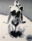 Grey Nude Art Print