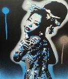 Planet Asia Blue Art Print