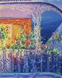 New Orleans Balcony With Flowers Art Print