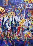 New Orleans Club Jazz Art Print