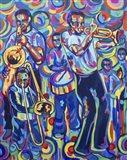 New Orleans Street Jazz Music Art Print