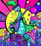 Denver Dinosour 2 Art Print