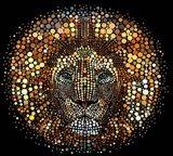 Paint Dawb Lion Art Print