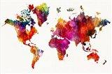 World Map 1 Art Print