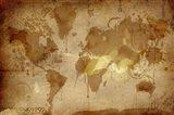 Vintage World Map Art Print