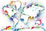 World Map 3 Art Print