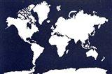 World Map 5 Art Print