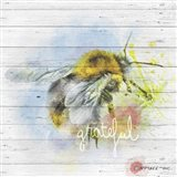 Bee Grateful Art Print