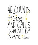 He Counts His Stars Art Print