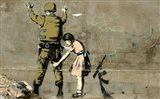 Bethlehem Wall Graffiti (horizontal) Art Print