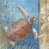 Turtle and Sea Art Print