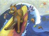 Surf Dog Art Print