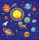Solar System Dog Art Print