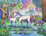 Unicorn Foal Castle Art Print