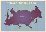 Upside Down Russia Art Print