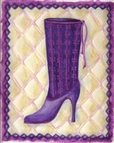 Boots Purple With Tiny Flowers Art Print