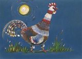 Coq A L'aube Art Print