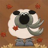 A Sheep in Fall Clothing Art Print