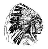 Native American Head Art Print