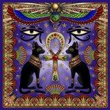 Egyptian Cats Art Print